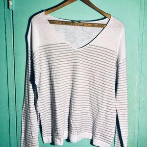 Gap V-Neck Striped Sweater